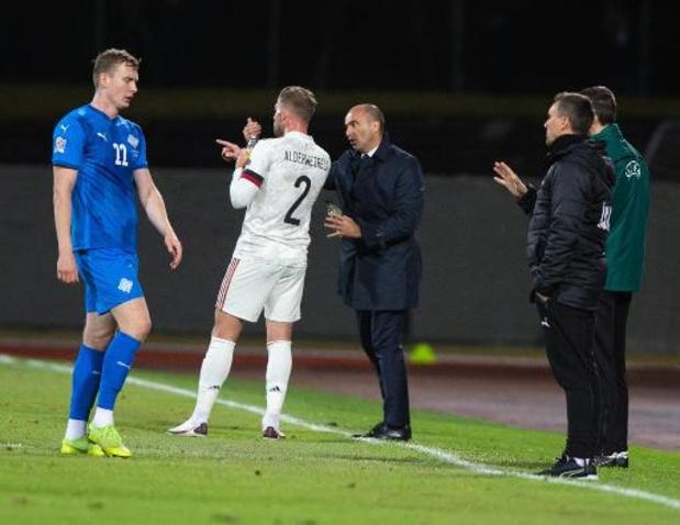 """Diables Rouges - Martinez est heureux de """"la réaction parfaite"""" après la défaite en Angleterre"""
