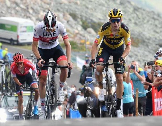 """Tour de France: Van Aert ziet Roglic uitlopen op Pogacar: """"Dit liegt niet"""""""