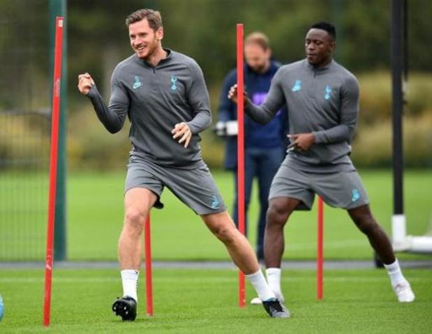 Jan Vertonghen reprend l'entraînement avec Tottenham