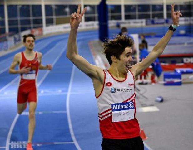 Championnats de Belgique d'athlétisme en salle - Le demi-fond sourit : Eykens, Vanderelst, Heymans et Somers dans les critères de l'Euro