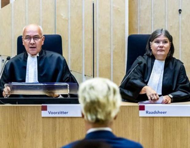 Wilders schuldig verklaard wegens 'minder Marokkanen'-uitspraak maar geen straf
