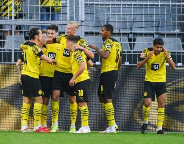 Belgen in het Buitenland - Sterke Haaland en scorende Thorgan Hazard loodsen Dortmund naar klinkende zege