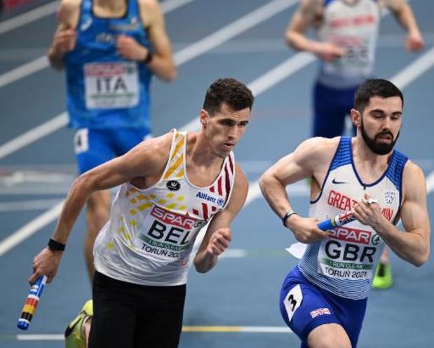 EK atletiek indoor - Belgian Tornados eindigen pas als vierde op de 4x400 meter