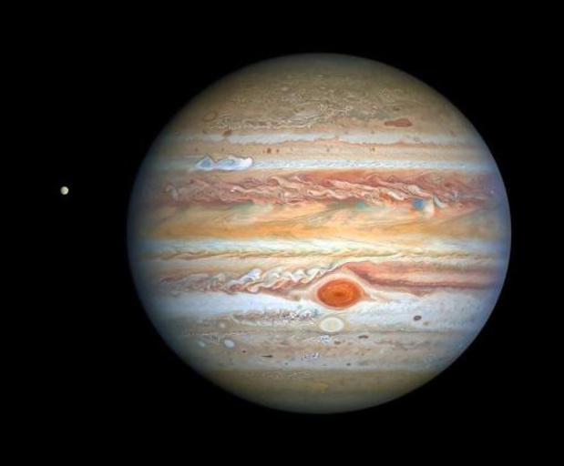 Jupiter en Saturnus staan bijna tegen elkaar