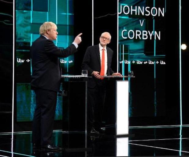 Johnson en Corbyn debatteren op televisie over brexit en kerstcadeaus