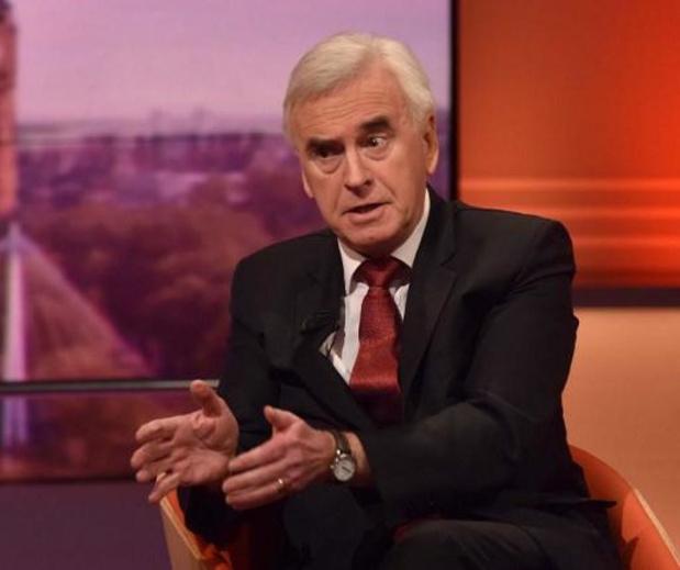 """Britse verkiezingen - Labour-topper John McDonnell: """"Zullen gepaste beslissingen nemen als dit klopt"""""""