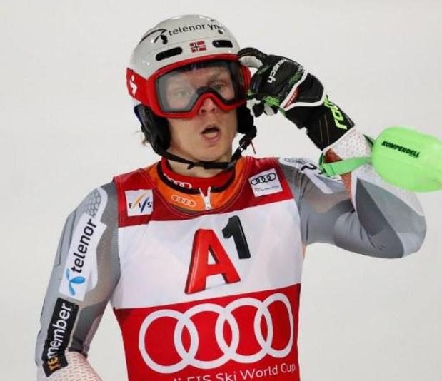 WB alpijnse ski - Henrik Kristoffersen vierde keer winnaar in Schladming