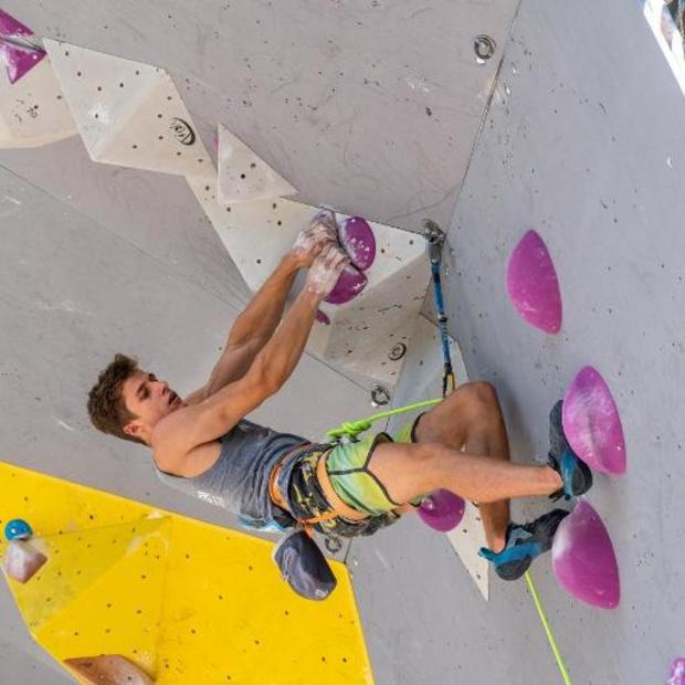 EK muurklimmen - Nicolas Collin eindigt op vijfde plaats in boulder