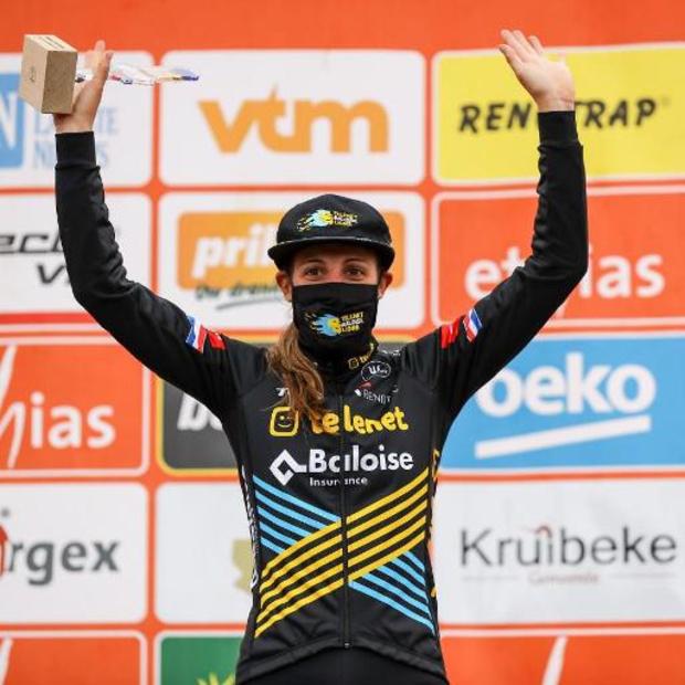 Poldercross - Lucinda Brand, Yara Kastelijn en Denise Betsema zorgen voor Nederlands podium
