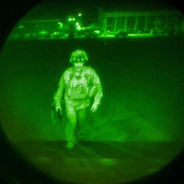 VS publiceren foto van laatste militair die vertrekt uit Kaboel