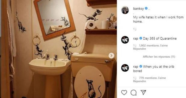 Comment s'occupe le street artist Banksy pendant le confinement? (photos)