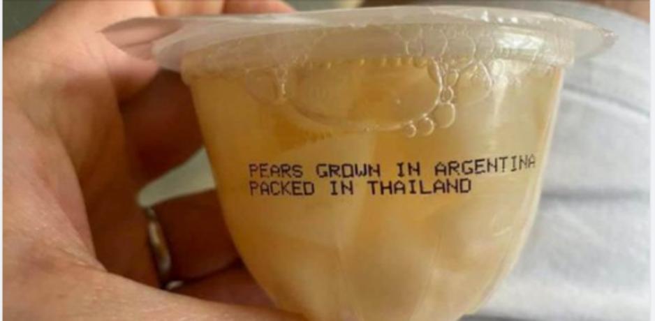 Factcheck: ja, deze foto toont peren die gekweekt zijn in Argentinië en verpakt in Thailand