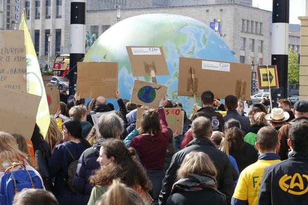Marche des jeunes pour le climat: 1.100 manifestants à Bruxelles
