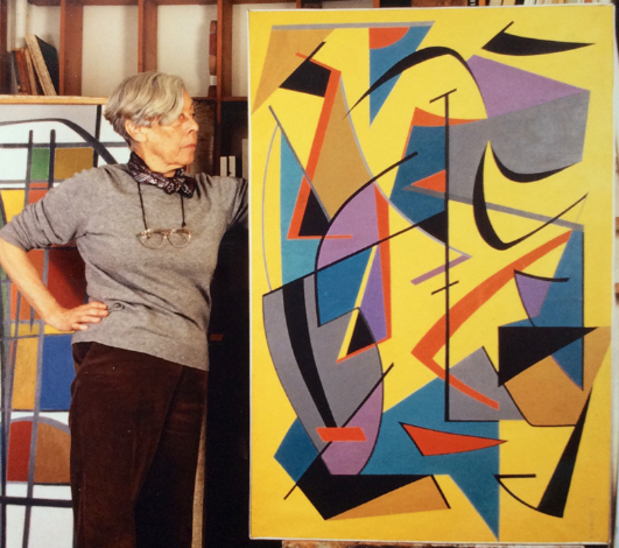 La peintre abstraite Francine Holley s'est éteinte