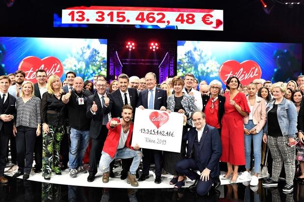La 31e édition du Télévie récolte un montant record de 13,3 millions d'euros