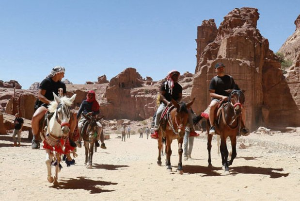 À Petra, mythique cité troglodyte jordanienne, la crise frappe aussi les animaux