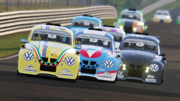 Course automobile virtuelle avec la VW e-Fun Cup