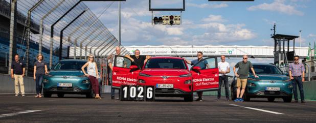 Hyundai Kona Electric: 1026 km sans recharger