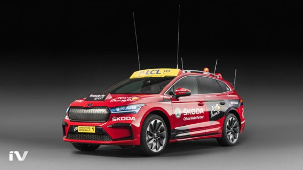 Skoda Enyaq iV start in Tour de France