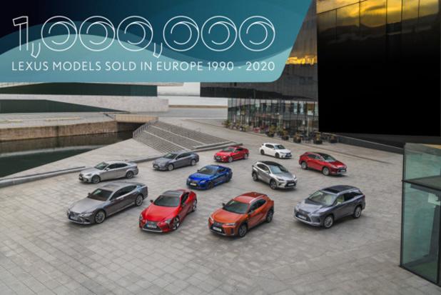 Lexus verkocht reeds 1 miljoen wagens in Europa