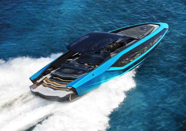 Une Lamborghini sur l'eau!