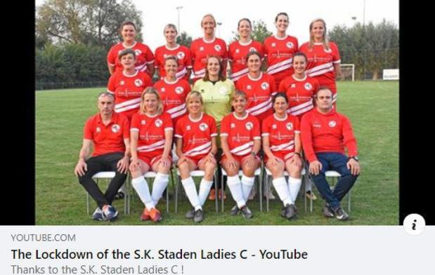 Dames SK Staden C nemen ludiek filmpje op