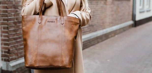 Leren maxi-shopper voor mini-prijs