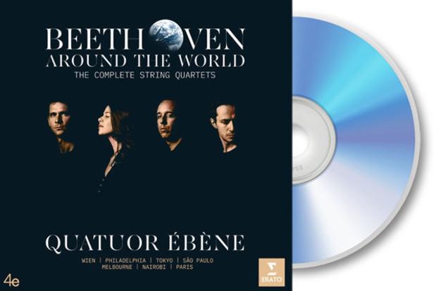 CD : Beethoven Around the World. The Complete String Quartets van Quatuor Ébène