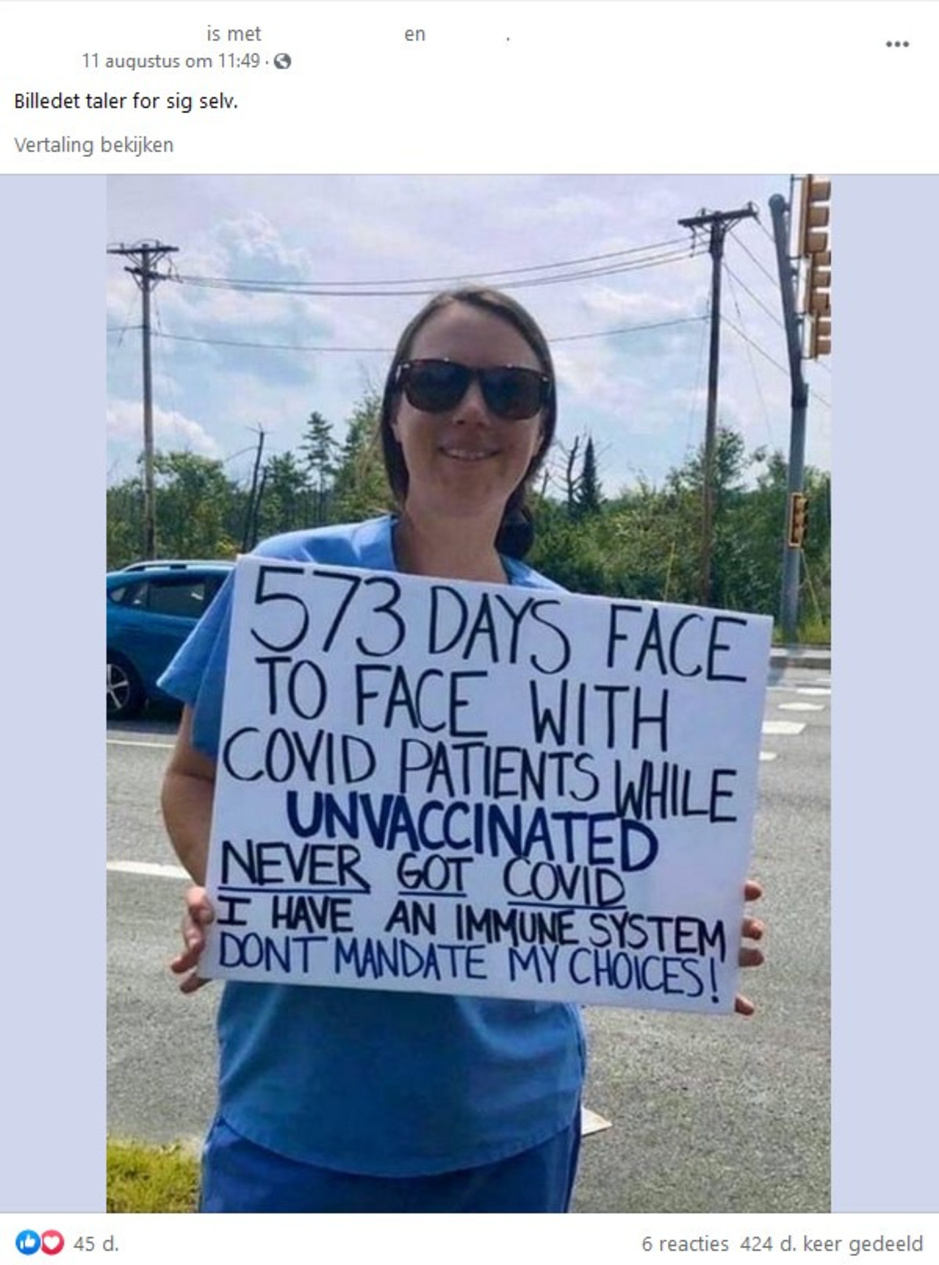 Factcheck: Amerikaanse verpleegster gaat viraal met antivaccinatieboodschap