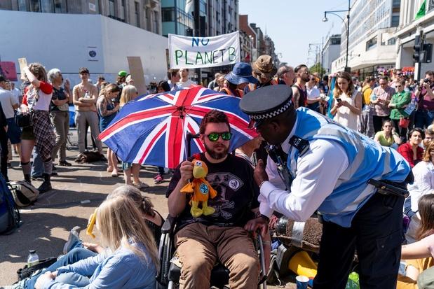 """6e jour de blocages """"écologiques"""" à Londres"""