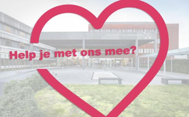 Jan Yperman Ziekenhuis Ieper lanceert via Facebook oproep voor helpende handen