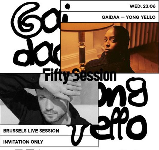 Win een duoticket voor de Fifty Summer Session: YONG YELLO x GAIDAA van woensdag 23/6