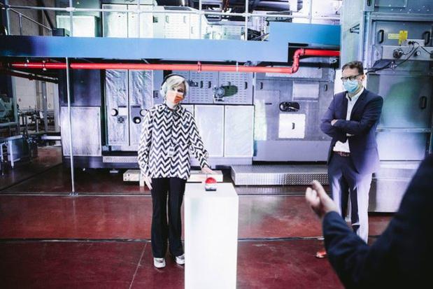 Roularta inaugure sa nouvelle rotative, à la pointe du progrès (VIDEO)