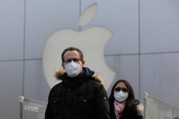 Faible incidence du coronavirus sur Apple