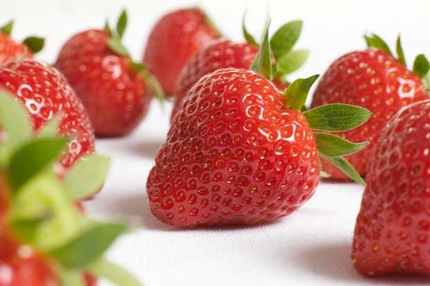 Win aardbeien voor moeder