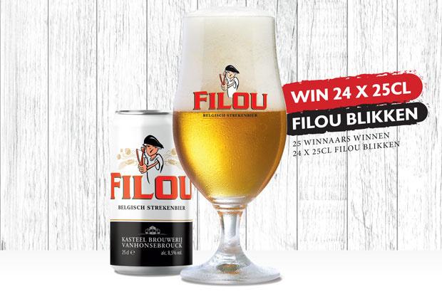 Win 24 FILOU Blikjes