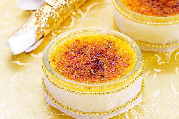 Crème brûlée met champagne