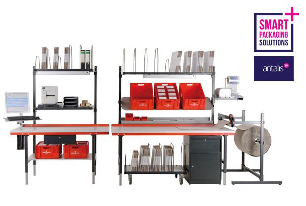 Un processus d'emballage efficace ? Optez pour les tables d'emballage professionnelles d'Antalis