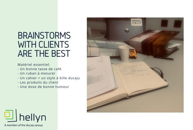 Brainstorms with the clients are the best!