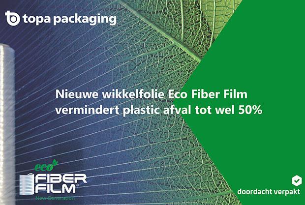 Nieuwe wikkelfolie Eco Fiber Film vermindert plastic afval tot wel 50%