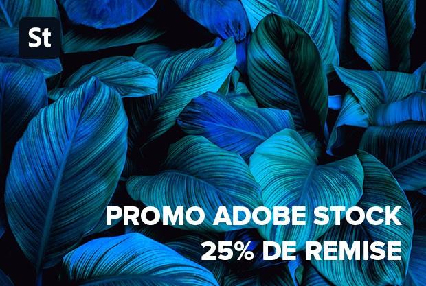 Adobe Stock promo - maintenant 25% de réduction