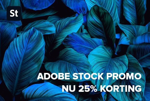 Adobe Stock promo - nu 25% korting