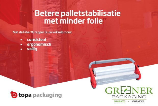 Topa's trotse 3de plaats op The Greener Packaging Awards