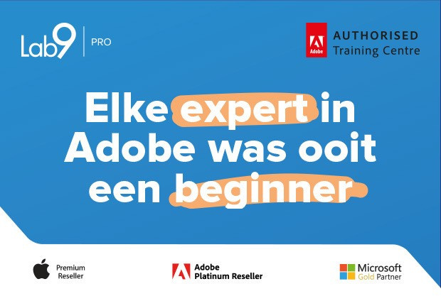 Elke expert in Adobe was ooit een beginner