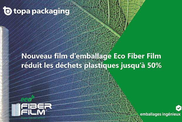 Le nouveau film de banderolage Eco Fiber Film réduit jusqu'à 50 % les déchets plastiques