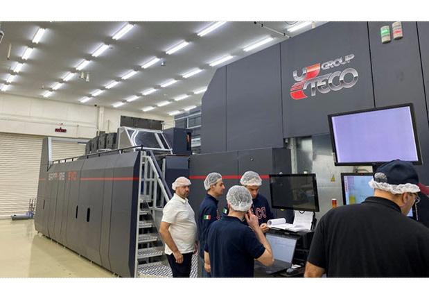 Eerste Uteco Sapphire EVO Press met Kodak Stream Inkjet Technology