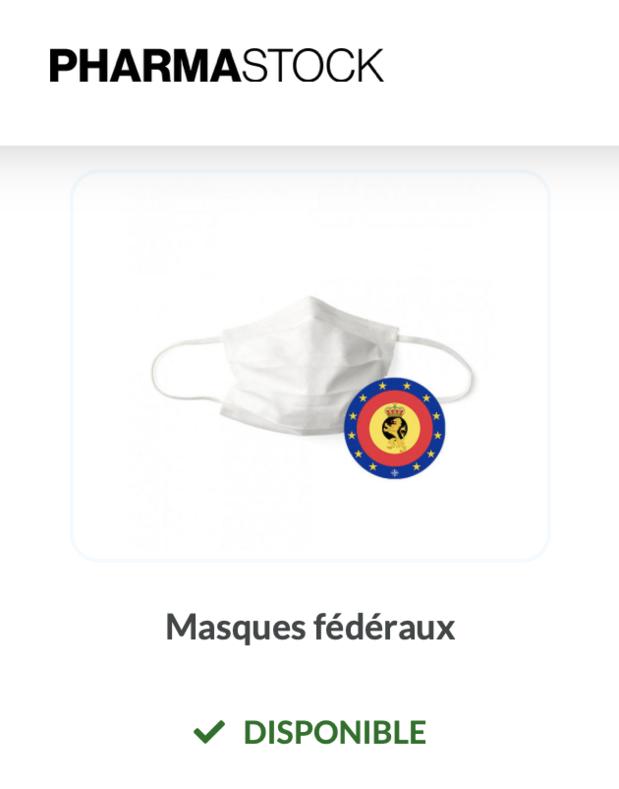 PharmaStock signale la disponibilité des masques fédéraux