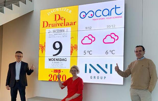 """Le """" Druivelaar """" désormais aussi sur les écrans connectés des hôpitaux, maisons de repos, commerces et entreprises"""