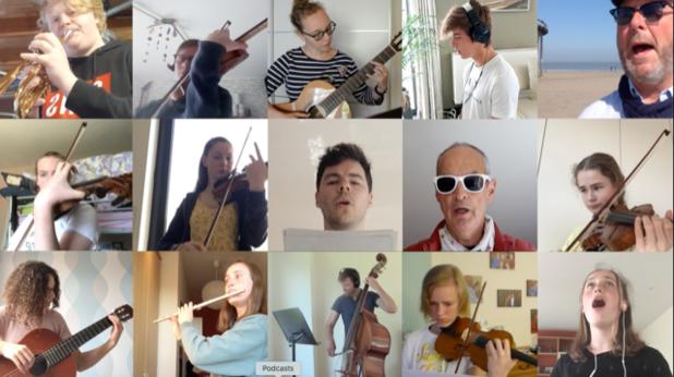 Leerlingen Blankenbergse academie schitteren in virtueel orkest