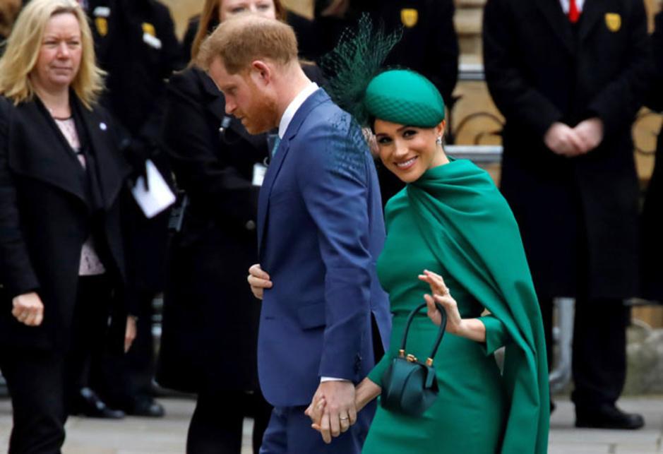 En images: Dernier devoir royal pour Harry et Meghan, avec petite entorse au protocole